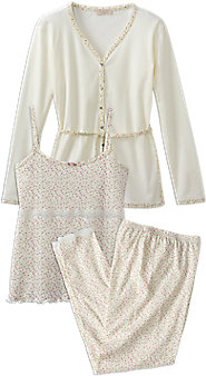 Posies and Lace Pajama Trio