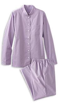 Womens Classic Mandarin Collar Pajamas
