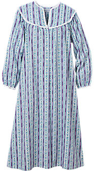 Lanz Purple Tyrolean Flannel Nightgown