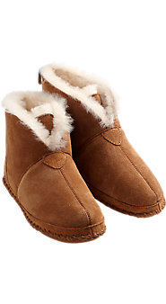 Soft Bottom Shearling Booties