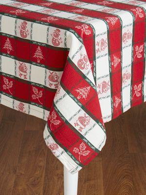 Holly Tablecloth Woven Jacquard Table Linen