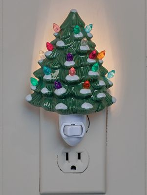 Christmas Tree Night Light With Colored Lights