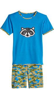 Boys Raccoon Shortie Pajama Set