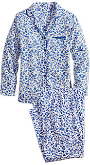 Blue Floral Pajama Set