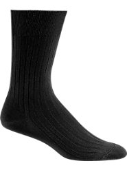 No Elastic to Irritate Sensitive Feet: Men's Cotton Socks Sized for a Perfect Fit