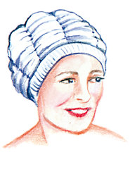 Expandable Shower Cap Is Gentler to Hair