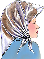 Long-Tailed, Visored Rain Bonnet Protects Hair from Wet and Wind