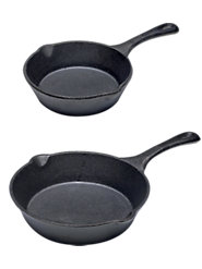 Pre-Seasoned Cast-Iron Cookware, Sized for Small Households, Retains Heat and Cooks Evenly on Stove Top or in the Oven