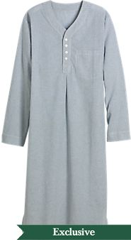 Mens Broadcloth Nightshirt