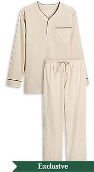 Mens Cotton Broadcloth Pajamas