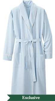Mens Percale Wrap Robe