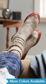 Ragg Wool Slipper Socks