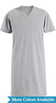 V-Neck Short-Sleeve Cotton Knit Sleepshirt