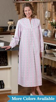 Lanz Waltz Length Tyrolean Flannel Nightgown