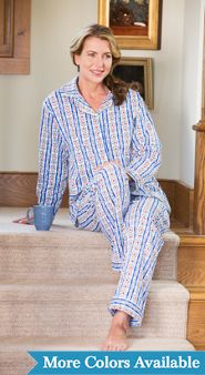 Womens Lanz of Salzburg Tyrolean Flannel Pajamas