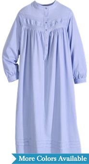 Fern Embroidered Cotton Nightgown