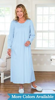 Calida Cotton Long Sleeve Nightgown