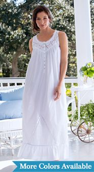 Womens Eileen West Moonlight Sonata Cotton Nightgown