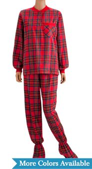 Women's Two-Piece Footed Pajamas