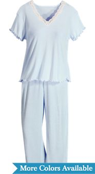 Womens Moisture Wicking FeelGood Capri Pajamas
