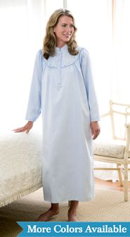Womens Brushed Satin Nightgown