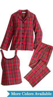Three-Piece Flannel Pajama Set