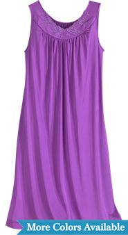 Women's Shadowline Petals Waltz-Length Sleeveless Nightgown