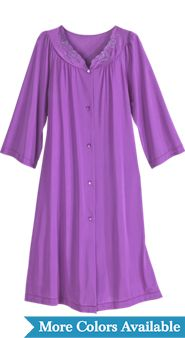 Shadowline Petals Waltz-Length Long-Sleeve Robe