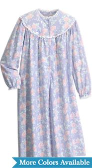 Womens Lanz of Salzburg Shorter Length Nantucket Rose Nightgown