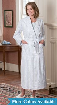 Lanz Tyrolean Flannel Wrap Robe