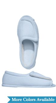 Womens Adjustable Terry Slippers