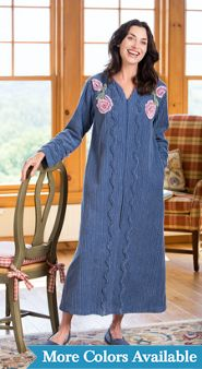 Chenille Blossom Robe