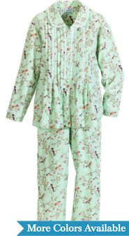 Womens Lanz Slumber Birds and Berries Pajamas