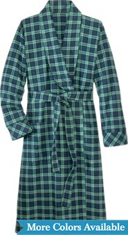 IRISH FLANNEL WRAP ROBE