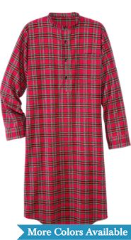 Irish Cotton Flannel Nightshirt