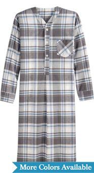 Mens 47 Inch Portuguese Flannel Nightshirt