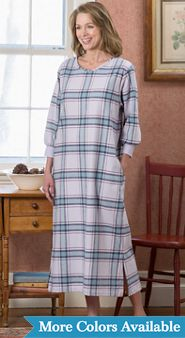 Portuguese Flannel Cabin Nightgown
