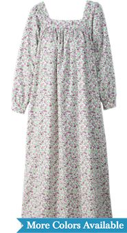 Square Neck Portuguese Flannel Nightgown
