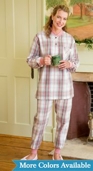 Womens Flannel Ski Pajamas