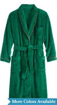 Mens Cozy Cabin Fleece Wrap Robe