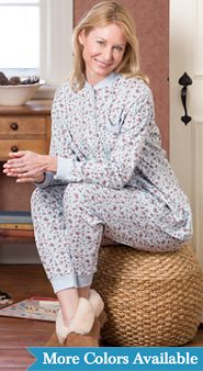 Womens Cotton Knit Ski Pajamas