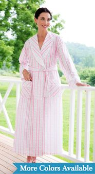 Womens Lanz Tyrolean Cotton Lawn Wrap Robe