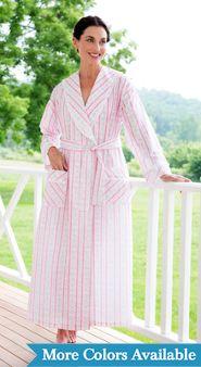 Womens Lanz Tyrolean Cotton Lawn Wrap Robe