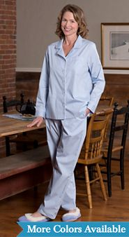 Womens Cotton Broadcloth Pajamas