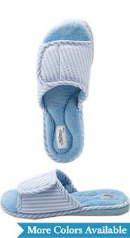Womens Adjustable Seersucker Slippers