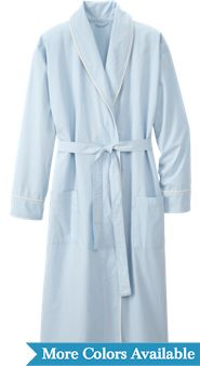 Percale Wrap Robe