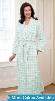 Womens Percale Wrap Robe