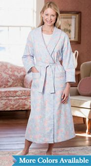 Womens Lanz Flannel Wrap Robe