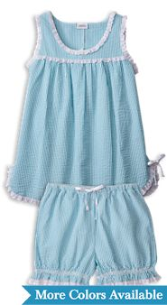 Seersucker Baby Doll Pajamas