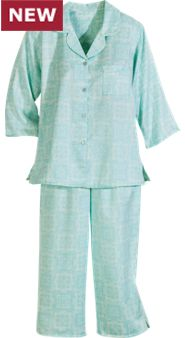 Miss Elaine Peached Women's Satin Pajamas